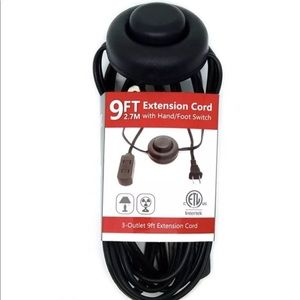 Christmas Foot switch power 9Ft Outlet 2 prong.